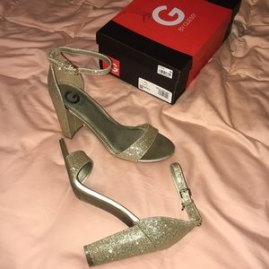 Guess gold heels size 9